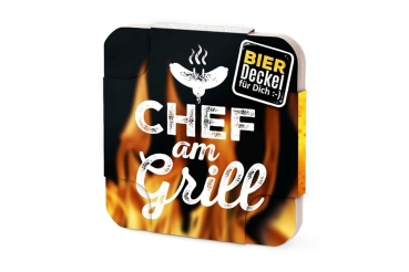 "Bierdeckel ""Chef am Grill"""